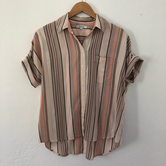 f9352190 Madewell Tops - Madewell - Courier Shirt in Aldwin Stripe